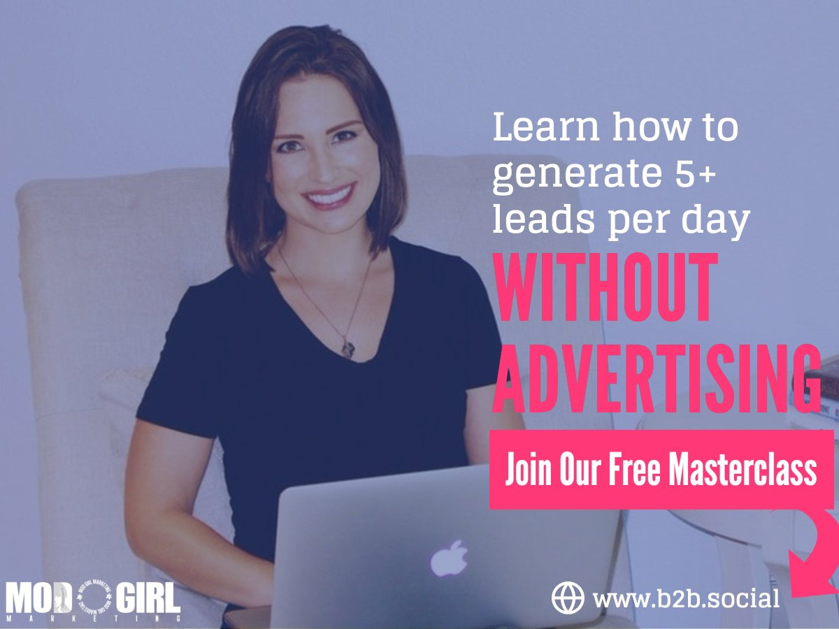 Are you generating quality #leads with #LinkedIn? @MandyModGirl's Mod Masterclass teaches you how. Space is limited: https://t.co/vBlC0MWaL9