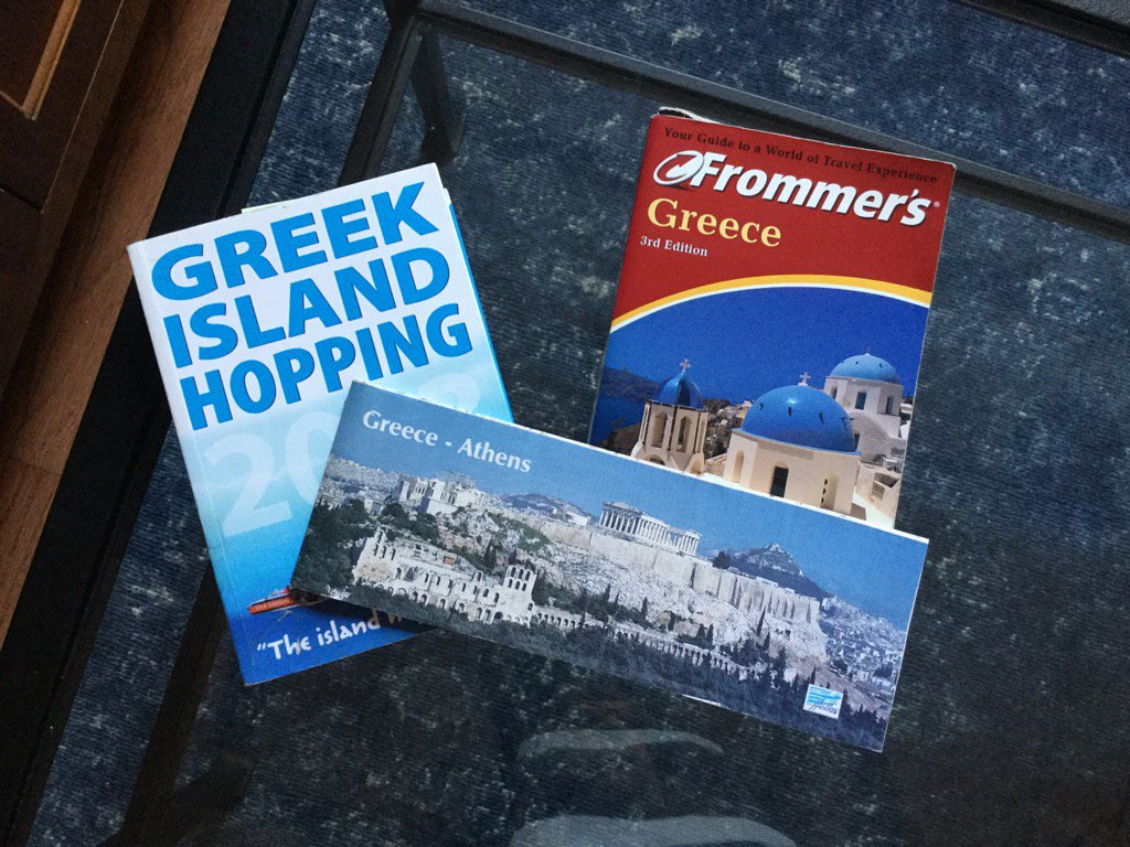 8 months of planning & we are ready to go! #Greece #Athens #Cyclades #Milos #Folegandros #Santorini #dreamcometrue https://t.co/kgyfDyCAVH