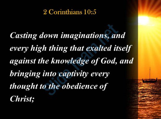 #We Bring Every Thought &amp; Every Imagination Captive To tObedience Of CHRIST! #JESUS-CHRIST Is The KING Of Kings, The Devil Is Defeated IJCN!<br>http://pic.twitter.com/LZX8Kf3YtK
