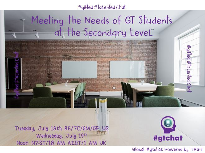 Thumbnail for #gtchat: Meeting the Needs of GT Students at the Secondary Level