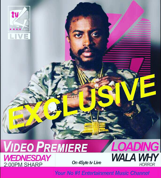 @wala_why #Horror Music video, premieres today exclusively on #YourNo1EntMusicChannel at 2pm sharp. Stay tuned https://t.co/xIZl7MZ9My