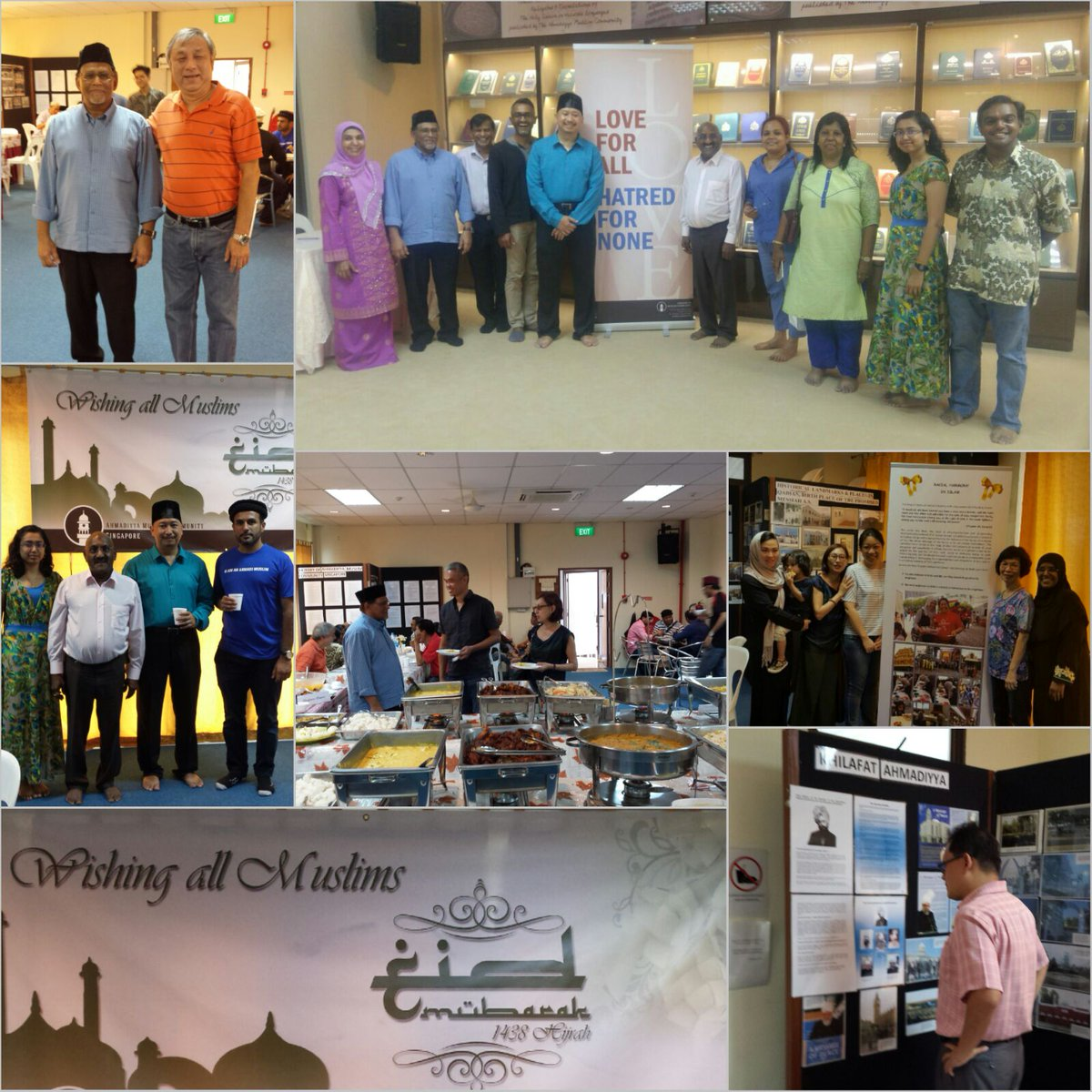 1.Friends of #Ahmadiyya Singapore shared an afternoon @ Taha Mosque in a warm multi-ethnic #Eid Gathering. #Love for All Hatred for None<br>http://pic.twitter.com/yzVq2vKa4m