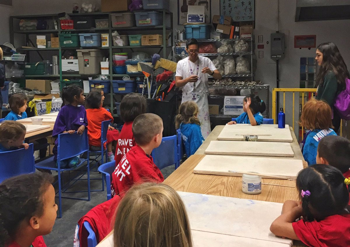 Great to see my guy @danielhkwan with the younger kids this session teaching pottery. He can do it all!#summerclub75 <br>http://pic.twitter.com/97MyufKibd &ndash; bij Royal Ontario Museum