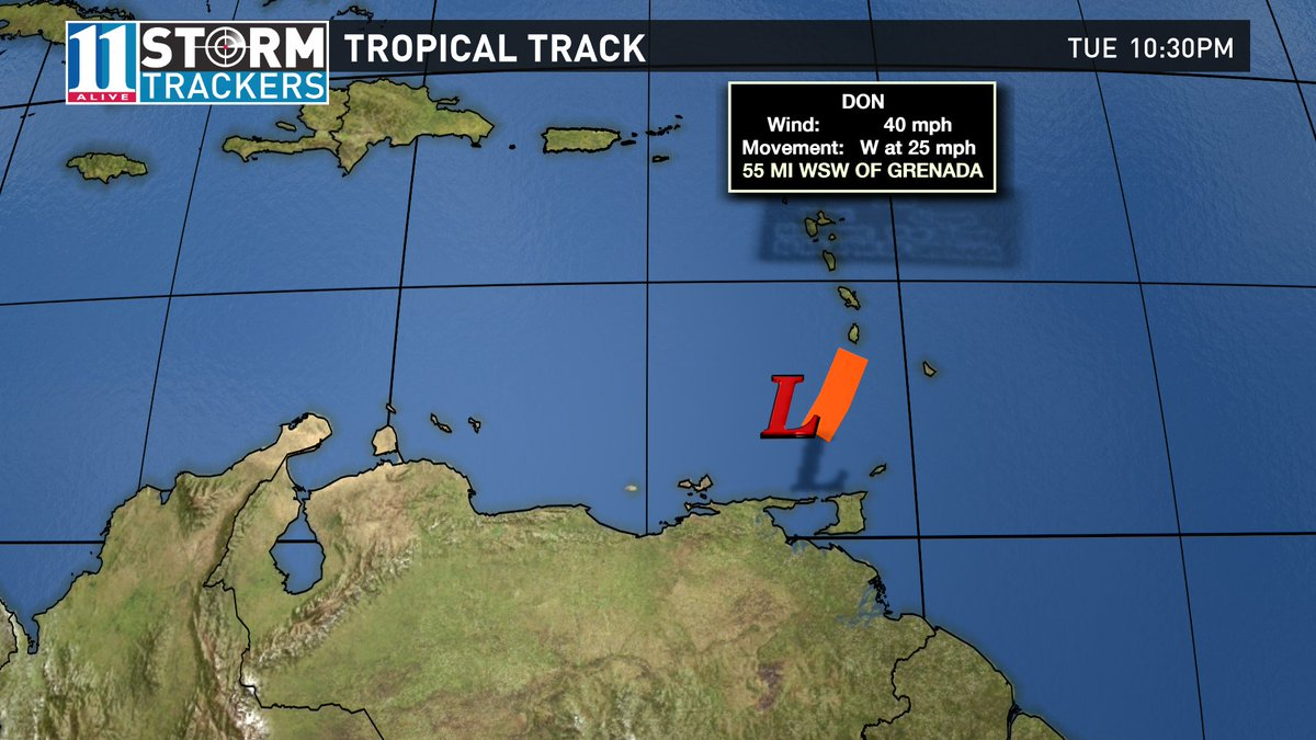 Tropical Storm Don weakens to an open wave in the eastern Caribbean. NHC issues its last advisory on it. #11Alive