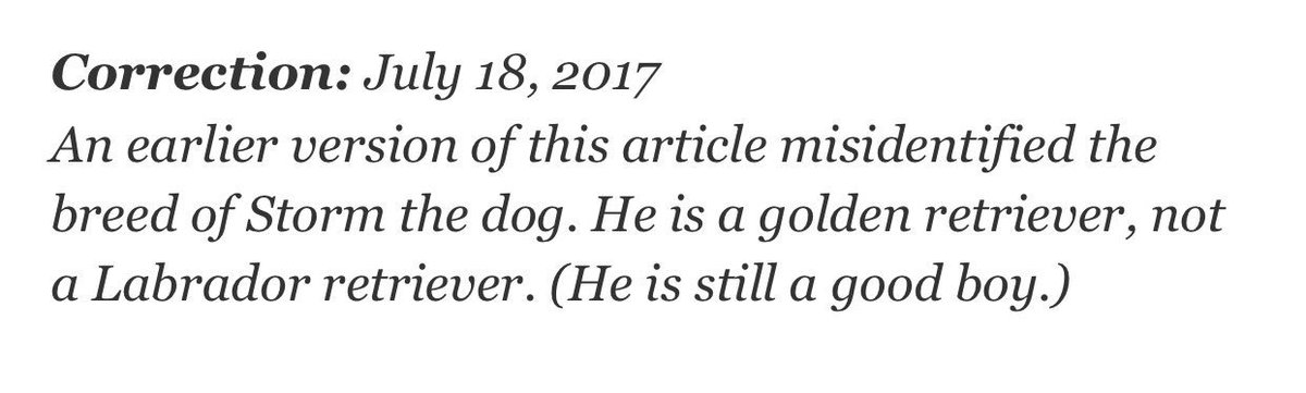 a NYT correction we can all love