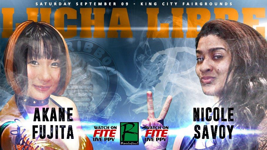 @akanefujita103 vs. @NikiMSavo set for 9/9/17 already with @BlueDemonjr @PENTAELZEROM &amp; @elidrake_LP @ReyFenixMx   #Viva #LuchaLibre <br>http://pic.twitter.com/DdBbde004q