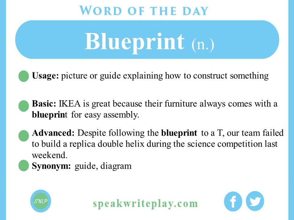 Speak write play on twitter how often do you follow a blueprint speak write play on twitter how often do you follow a blueprint english esl vocabulary toefl malvernweather Choice Image
