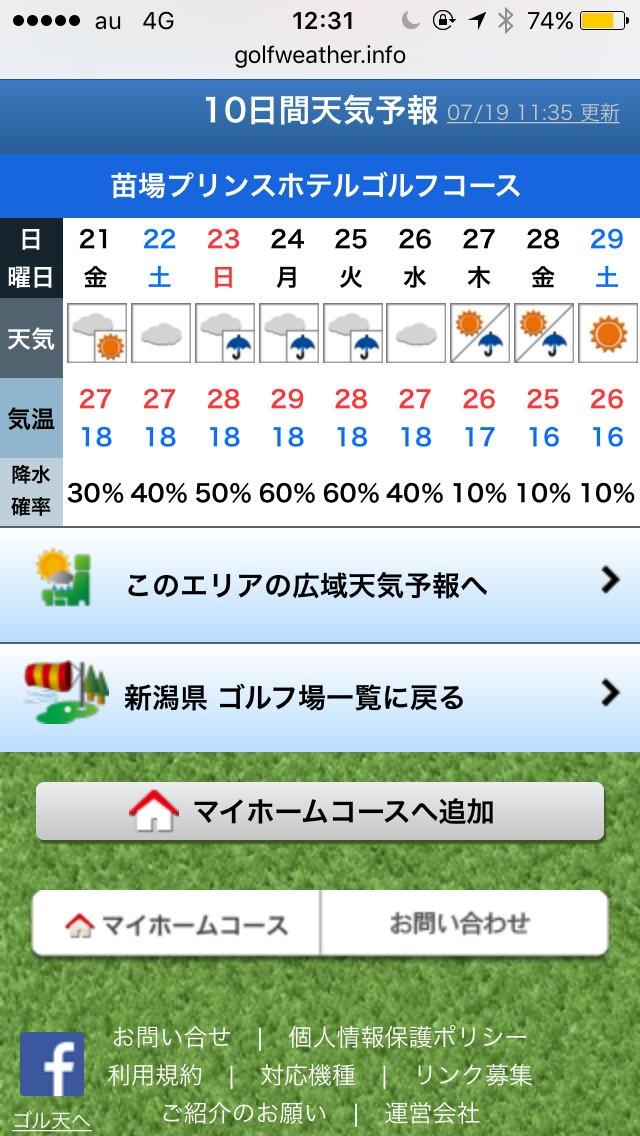 ゴルフ 場 の 天気