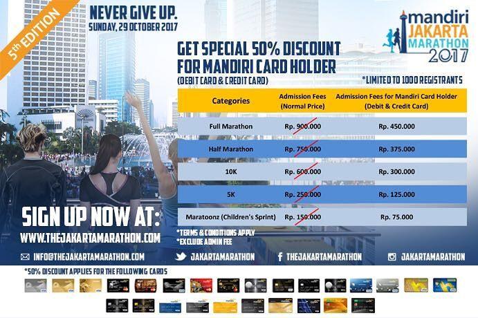 Marathon Credit Card Login >> Jakarta Marathon On Twitter Get Special 50 Discount For