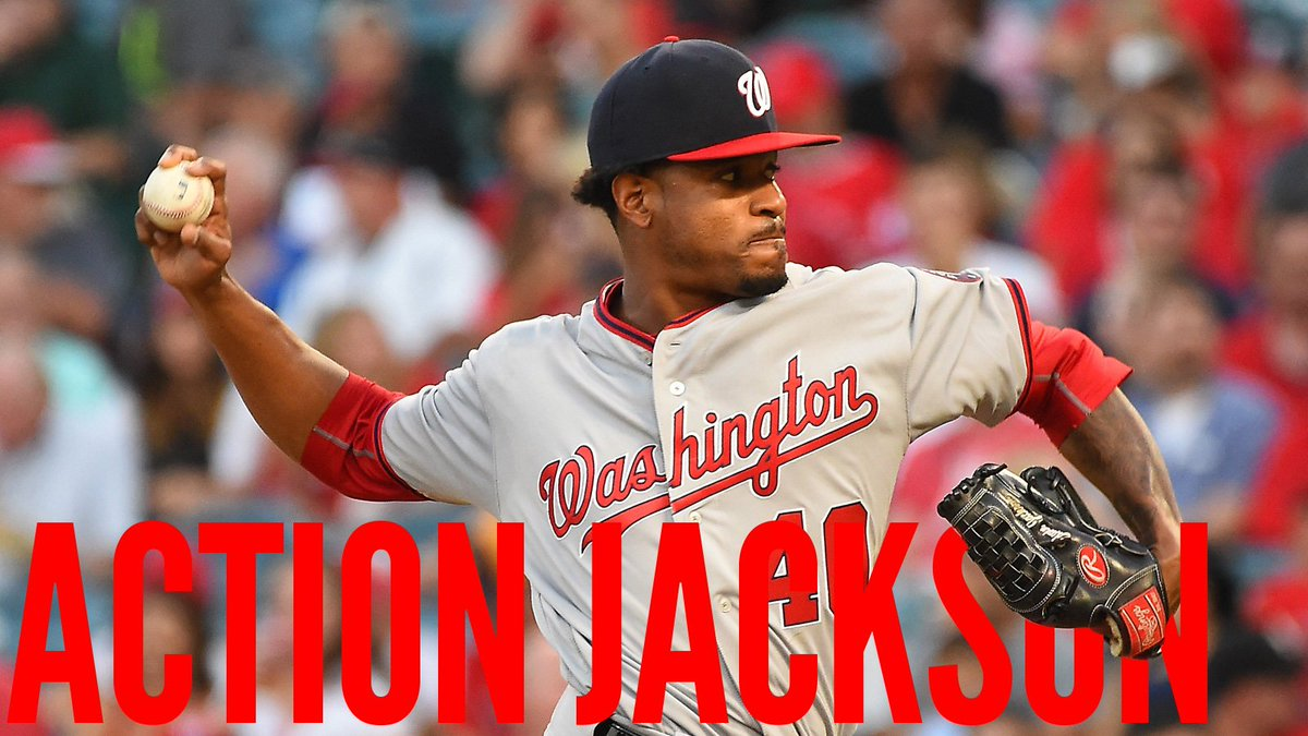 ACTION JACKSON! Edwin Jackson goes seven innings in #Nats' 4-3 win ove...