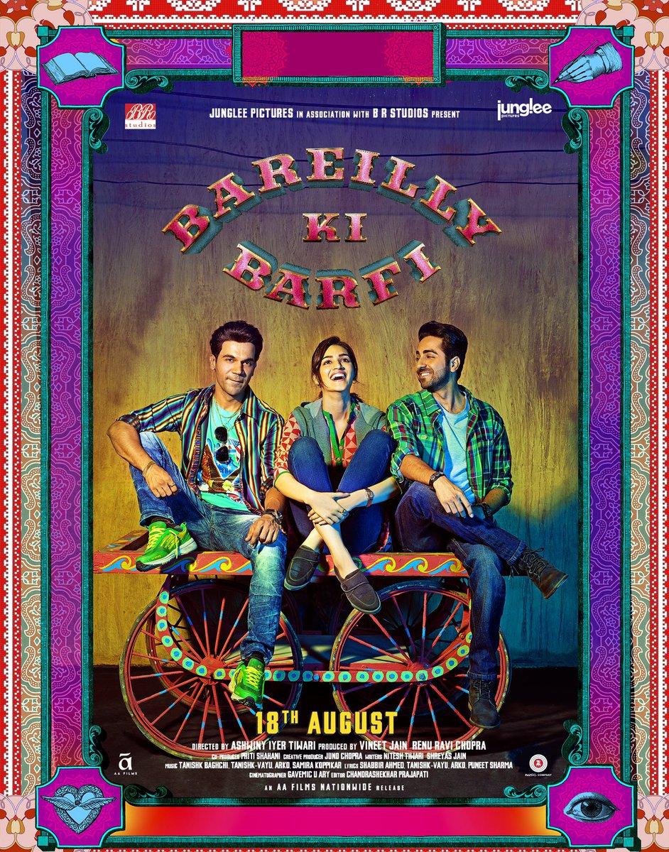 Teaser Poster of Bareilly ki Barfi starring Ayushmann Khurrana, Kriti Sanon, Rajkummar Rao