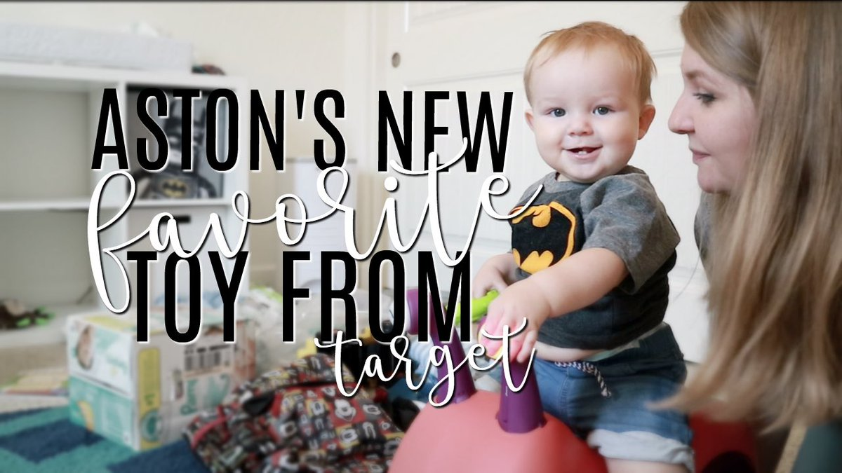 Aston loves his new toy!! Check it out in today&#39;s #vlog #subscribe #youtube #target  https:// youtu.be/dMibCrgosmg  &nbsp;  <br>http://pic.twitter.com/E5JN9yIDTR