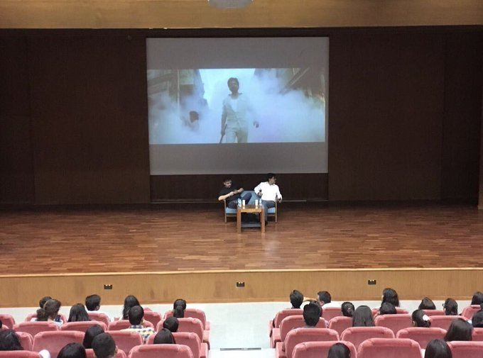 #Raees talk with #pdpu students in Gandhinagar https://t.co/c8Wm44QRNR