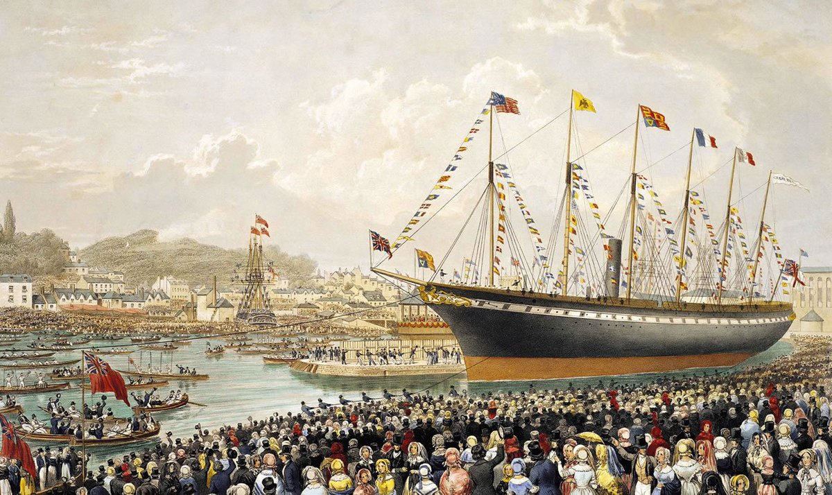 Happy birthday to the #SSGreatBritain, who launched from #Bristol #onthisday in 1843 https://t.co/bz2wOVO8tL