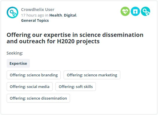 The team at @Mediomix offers extensive expertise in science communication &amp; outreach to #Horizon2020 consortia:  http://www. crowdhelix.com  &nbsp;  <br>http://pic.twitter.com/rEGhBTbJqA