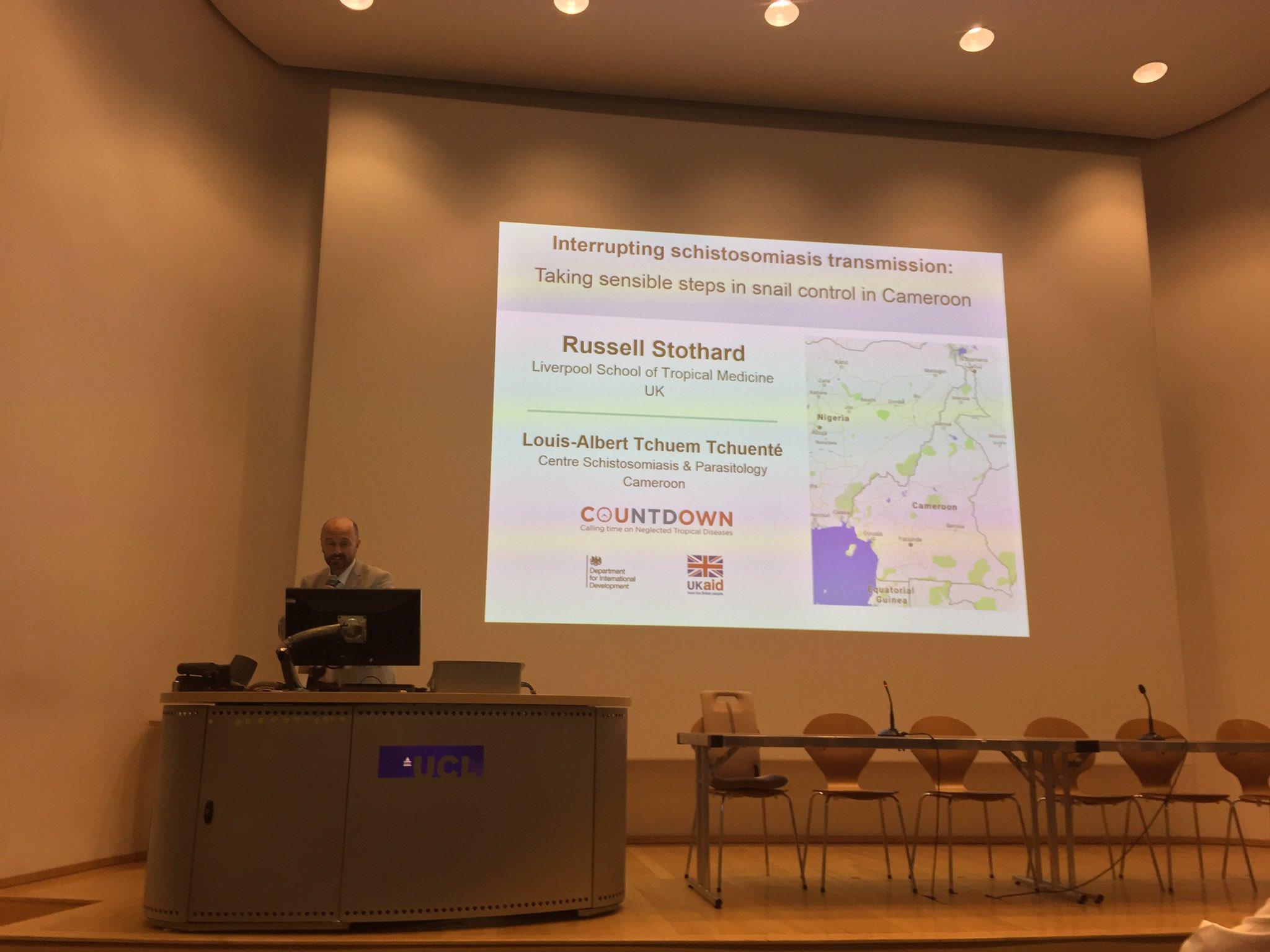 Prof Stothard tells #ISNTDbites17 about @NTDCOUNTDOWN steps 2 control snails 🐌 4 #schistosomiasis control #NTDs @CountdownNTDCam @LSTM_NTDs https://t.co/cYsNDkUwiZ