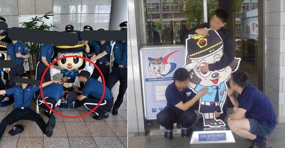 제복 입고 '포순이 성희롱' 사진 찍은 의경들  경찰 제복까지 입고...  https://t.co/xoWYRA8Lzi