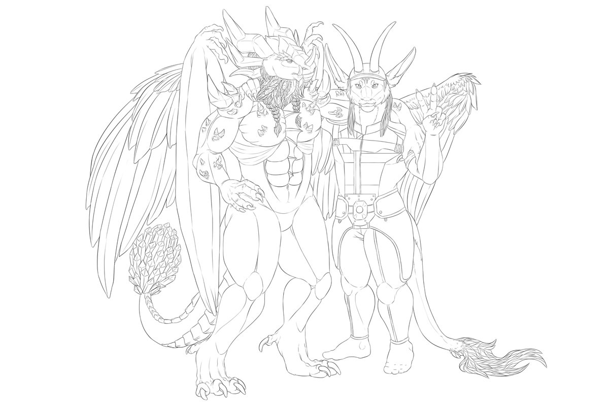 Finished the lining! Now to color! #fantasy #dragons #artwork #teamemmmmsie #stormchaserarmy @RedStorm80Fans #twitch #commissions #reptiles <br>http://pic.twitter.com/ElRjMfXkKG