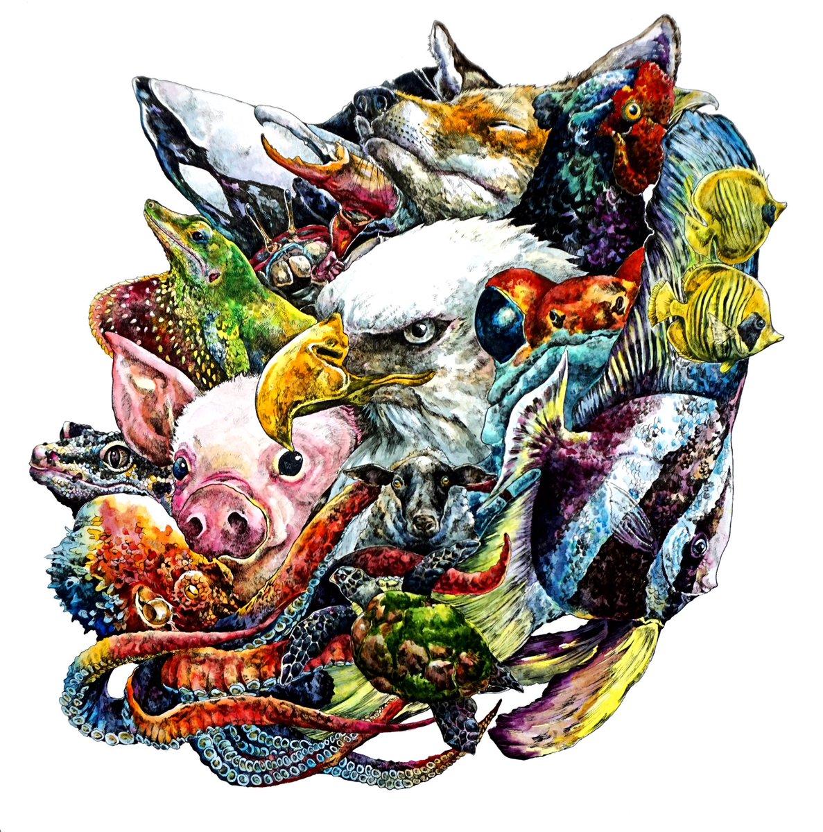 動物のイラストだけで興味を持ってくれる方へ届け hashtag on twitter