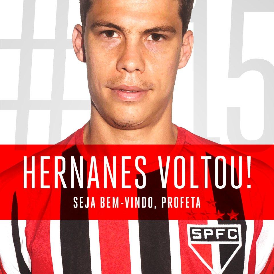 São Paulo surpreende e anuncia retorno do meio-campista Hernanes