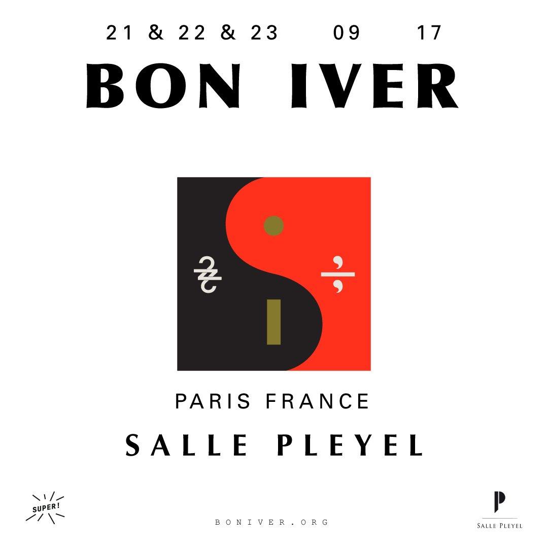 Les 3 concerts de @boniver en septembre à #sallepleyel sont #completcomplet ! https://t.co/OI74WnvNGg