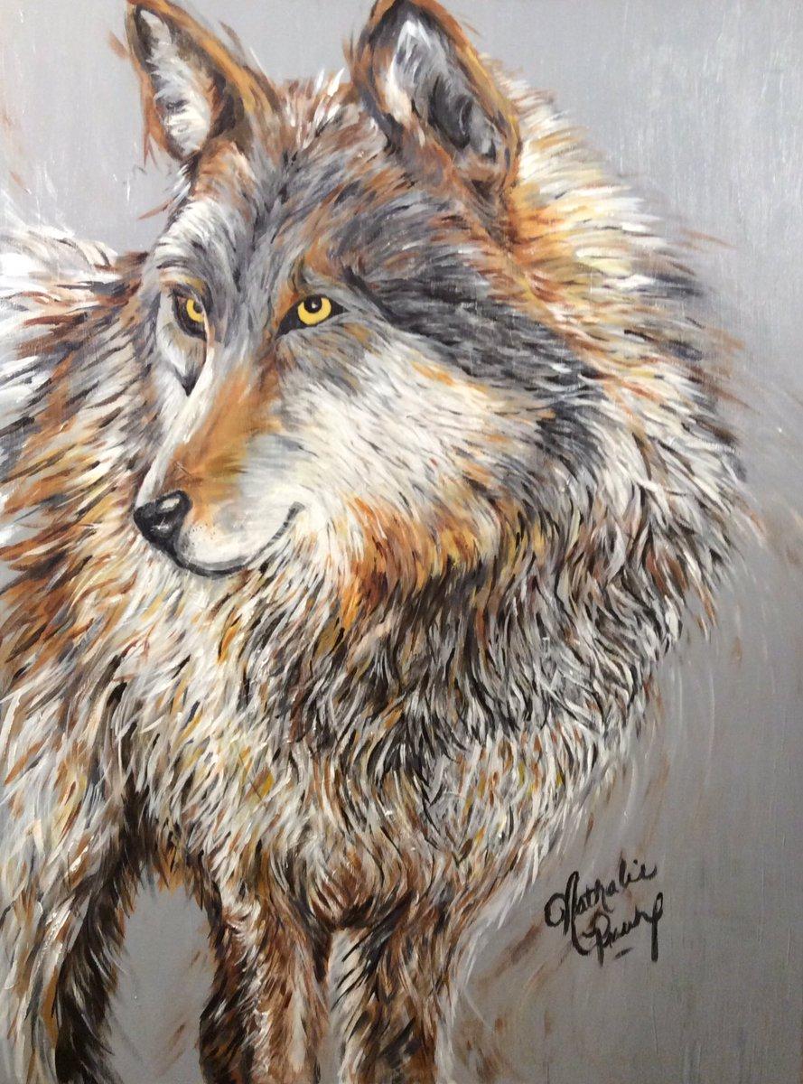 Loup solitaire  Acrylique sur toile 30x40 #Wolves #wolf #artist #acrylicsart #peinture #peintres #peintures #paintings #painting #animals<br>http://pic.twitter.com/RYNdmjbvFF