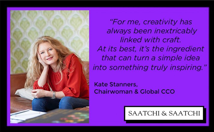 Creative wisdom from the top, @wwsaatchi's very own Kate Stanners #WednesdayWisdom https://t.co/y8jIHxTnd0