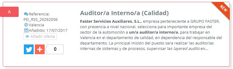 NUEVA OFERTA DE #EMPLEO: Auditor/a Interno/a (Calidad) --> https://t.co/wOtHAaxkjm https://t.co/64JeYFhNff