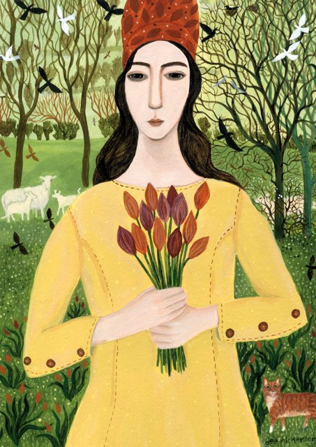 New Greeting Card! &#39;Girl With Tulips&#39; by @dEEN1cKers0n  https://www. greenpebble.co.uk/products/dn0-1 00-17-girl-with-tulips &nbsp; …  #greetingcards #availableonline #freeukdeliver<br>http://pic.twitter.com/0jxcP8cnqo
