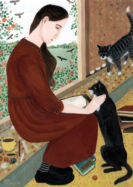 New Greeting Card! &#39;In Her Own Space With Two Cats&#39; by @dEEN1cKers0n  https://www. greenpebble.co.uk/products/dn0-1 01-17-in-her-own-space-with-two-cats &nbsp; …  #greetingcards #availableonline #freeukdelivery<br>http://pic.twitter.com/ZavpeNoq7N