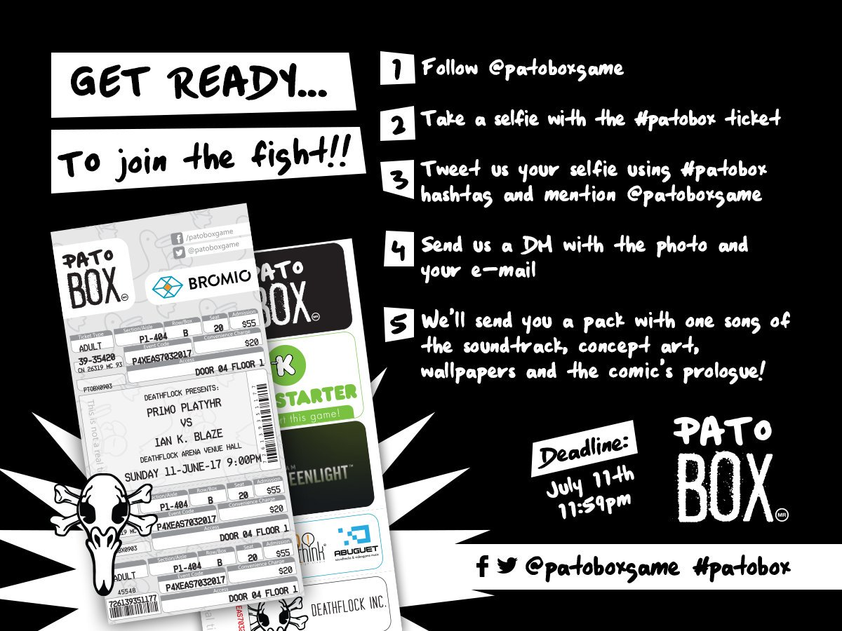Do you still have the #patobox ticket? You can win cool stuff from the game! #gamedev... by #nautabotnews <br>http://pic.twitter.com/sUjmaXIX3v