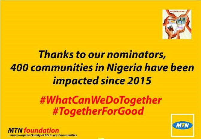 We will celebrate #WhatCanWeDoTogether nominators from the South-West region today at an event in Lagos. #TogetherForGood #MTNFoundation<br>http://pic.twitter.com/DE9kj65ifb