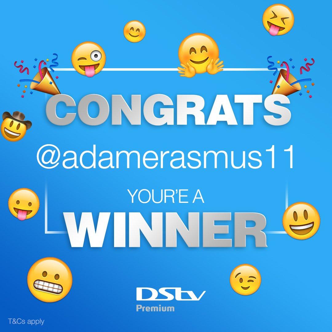 Well done to @adamerasmus11, our final #WorldEmojiDay winner. Enjoy your brand new DStv Explora! #DStvEmojiTrailers.