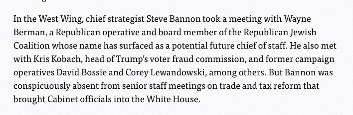 A day before the first meeting of Trump's voter fraud probe, Kris Kobach, the vice chair, met with Steve Bannon https://t.co/CXXehPBgWS https://t.co/UzcLdLZm9H