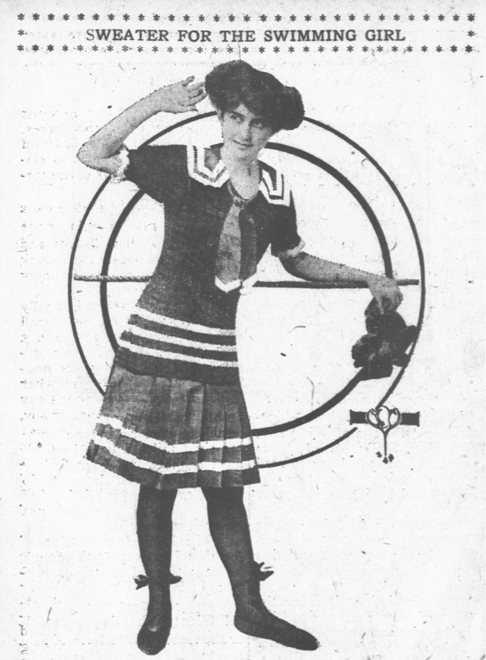 Want to be on trend for 1912?  How about a swimming sweater? #summer #fun #fashion #ChronAm https://t.co/3DA1g9uP8F https://t.co/cJDH4FVCQG