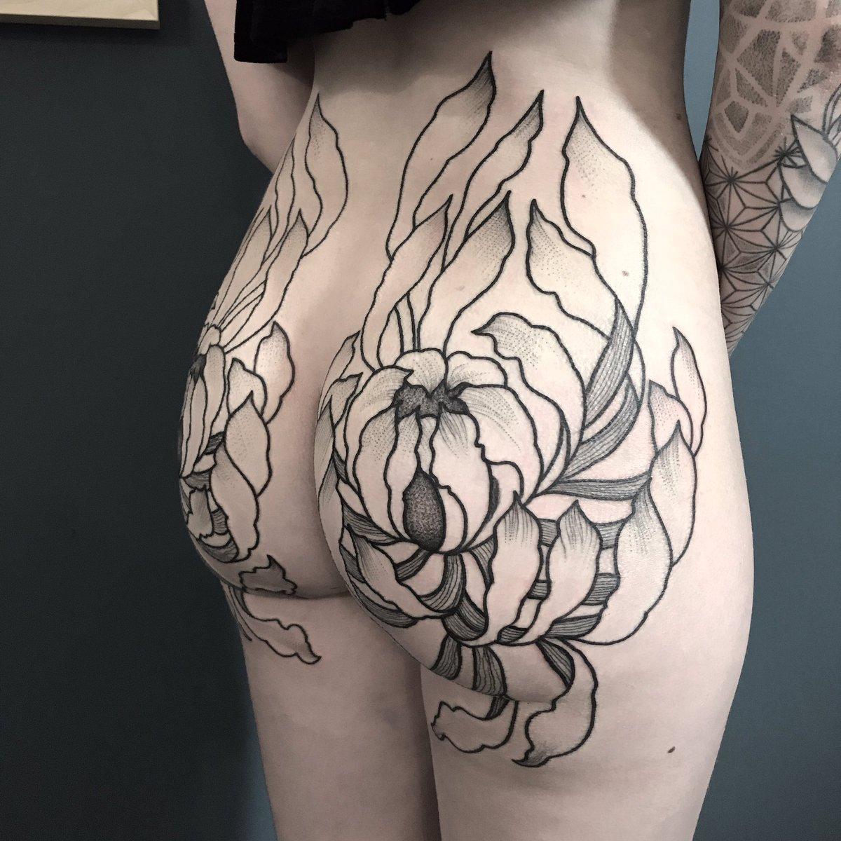 Ass butt tattoo