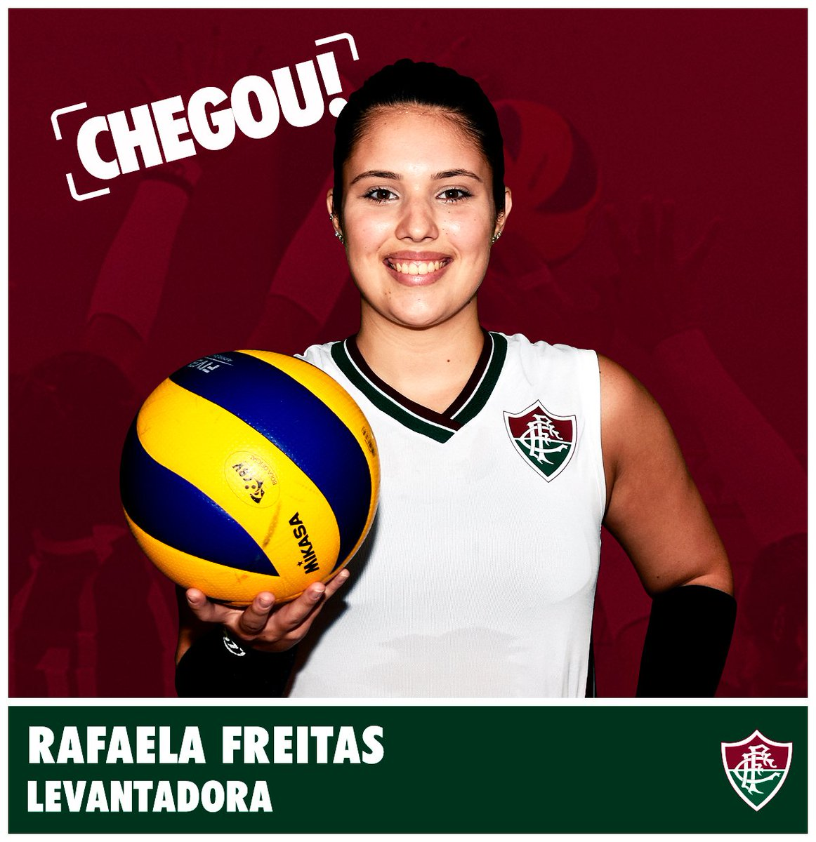 A levantadora Rafaela Souza é do Fluzão! 🏐 #FluOlímpico