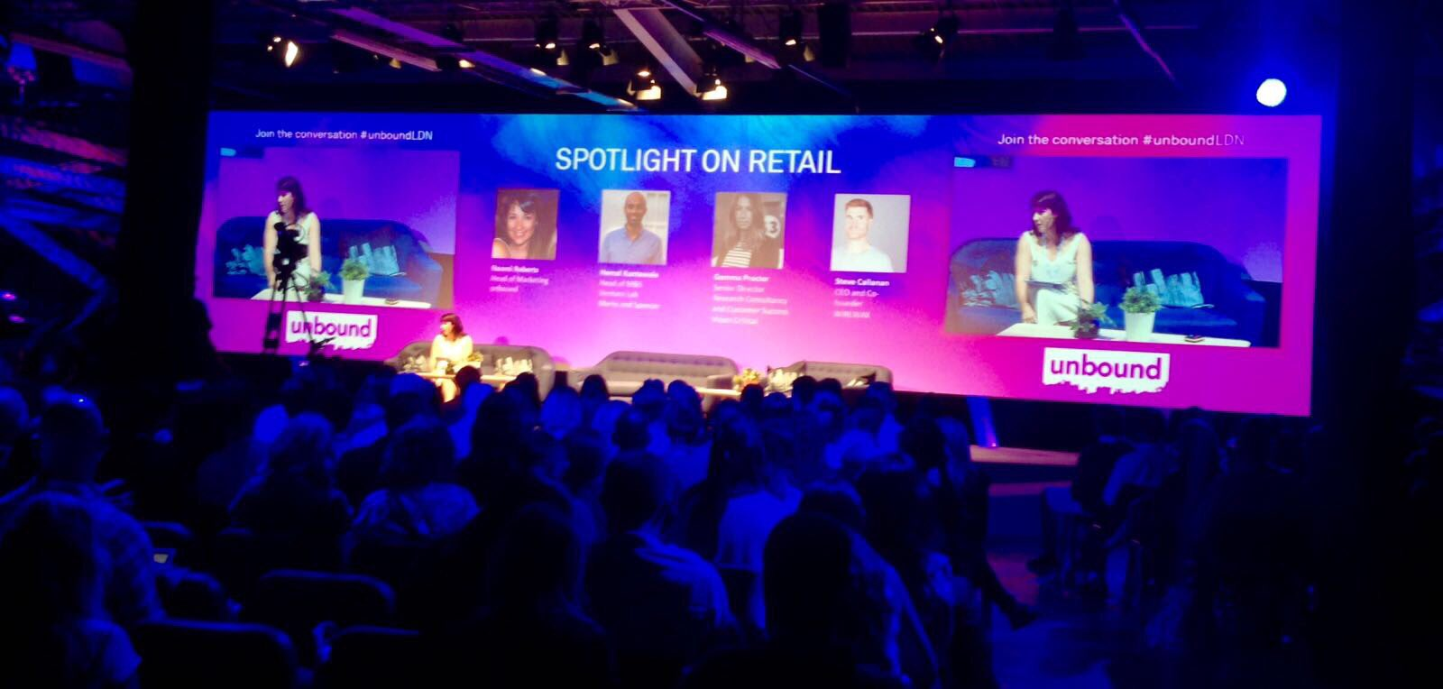 Now hearing how start up tech companies are transforming the retail landscape #UnboundLDN https://t.co/dRqtCKD7hh