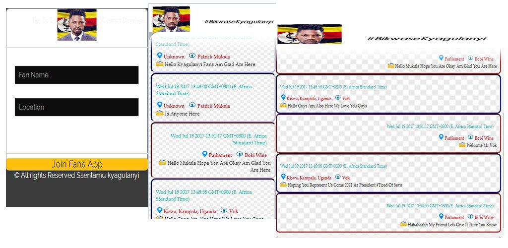 ooh Wow, #bikwaseKyagulanyi Mobile App Launched Check it Out  https:// play.google.com/store/apps/det ails?id=com.clicktheglobe.bikwasekyagulanyi &nbsp; …  @ntvuganda @UrbanTVUganda @Parliament_UG @HEBobiwine<br>http://pic.twitter.com/2HLQcvwZYF