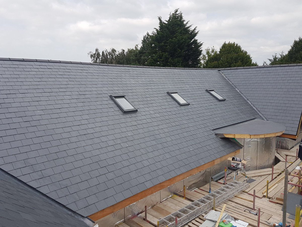 Slating and leadwork complete at Linton, Wetherby.Single ply works to follow #roofing #slate #Yorkshire @simpleaz101 @JED_91 @LiamStewart22<br>http://pic.twitter.com/dSwksGqbPl