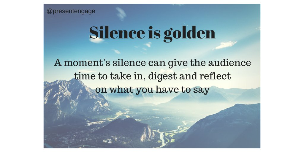 Give your points time to sink in, stay quiet for a moment #presentationskills #speakingtips #publicspeaking<br>http://pic.twitter.com/4dvbQjqTjt