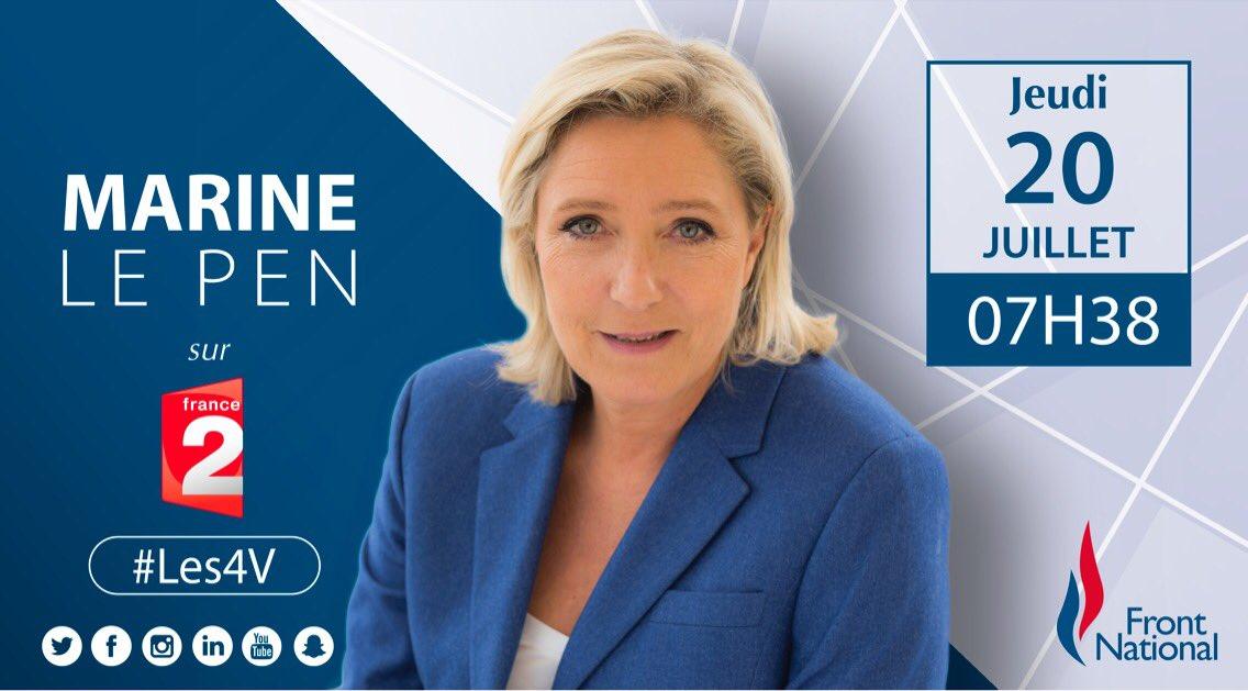 📺 Je serai, ce jeudi 20 juillet à 07h38, l'invitée de #Les4V sur @France2tv.
