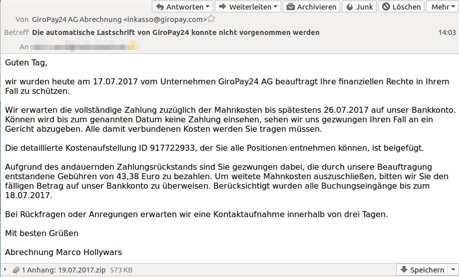 Rechnungsstelle Giropay24 Ag