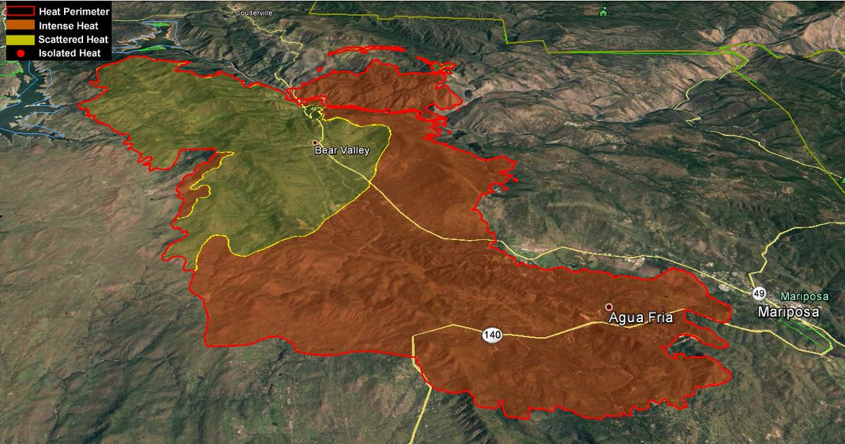 Wildfirenews On Twitter Detwilerfire Perimeter Map Produced From