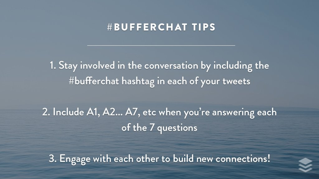 "Quick #bufferchat ask: up for including ""A1, A2…"" in your answer tweets? We'd love to include your insights in our recap blog post! <br>http://pic.twitter.com/MH1jT1CPOY"