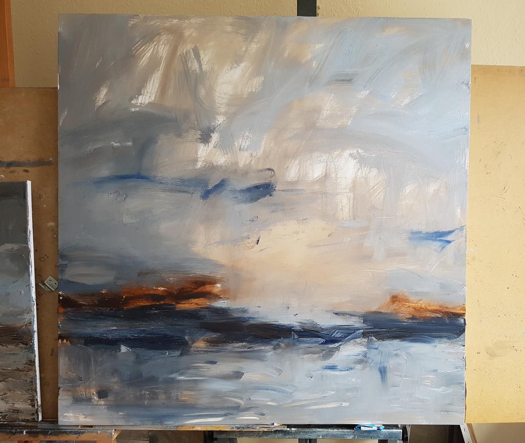 Working on this today #wip #oil #painting #canvas #thedailysketch #texture #ultramarine #umber #highgate #london #cornwall #art<br>http://pic.twitter.com/qYT5SJYWOU