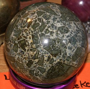 leaf jasper sphere by Jim Meeker