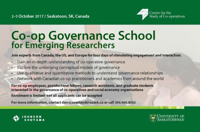 Applications open for our #coop #governance school for emerging #researchers. Apps available at  http:// ow.ly/h1IB30dKYTF  &nbsp;  , due August 13!<br>http://pic.twitter.com/GwOIfCWWir