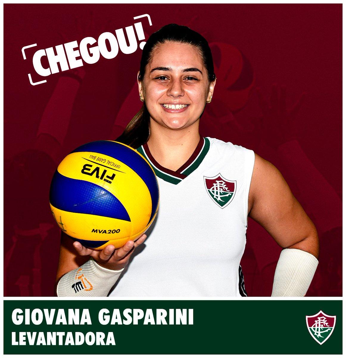 Olha quem chegou!! Giovana Gasparini é a nova levantadora do Fluzão! 🏐 #FluOlímpico