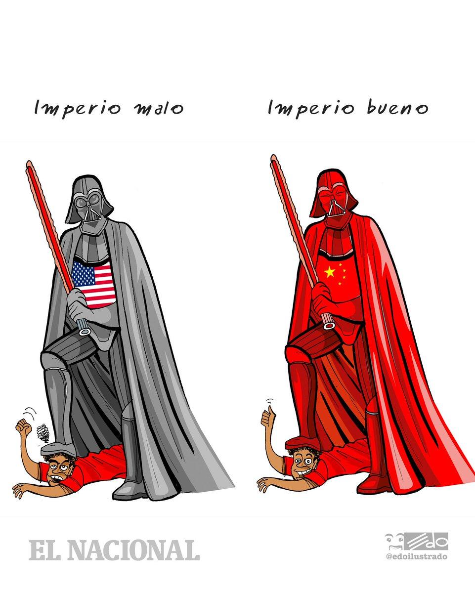 Caricatura EDO para @ElNacionalWeb Imperio malo y bueno